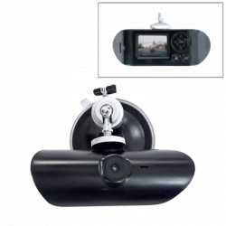 DVR portátil Full HD 1080p para vehículo con cámara frontal, Incluye GPS