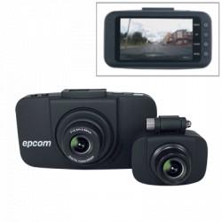 DVR portátil Full HD 1080p para vehículo con dos cámaras, Incluye GPS.