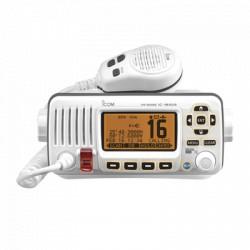 Radio Móvil Marino color blanco, 25W, Tx:156.025-157.425MHz, Rx:156.050-163.275MHz,