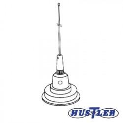 Antena Móvil en Color Blanco para Rango de Frecuencia de Banda Civil (CB) 26.960 - 27.400 MHz.