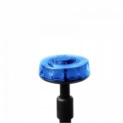 Luz telescópica trasera azul con mástil de 3 secciones, 15 LEDs en tecnología SOLARIS