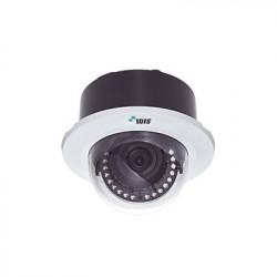 Cámara IP Domo para Plafón 2MP Lente Varifocal 3.3-10mm, para Interior, IR 20m, Entrada / Salida de Audio y Alarma