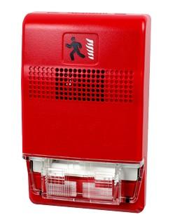 Eg1rf Hdvm Sirena Estrobo Multicandela Color Rojo