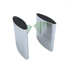 Puerta de cortesía tipo FLAP bidireccional / ACERO Acabado de Lujo / apertura-cierre de 1 segundo / Indicadores LED