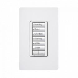Teclado hibrido seetouch, 6 botones, 2 botones subir/bajar, intensidad 120V/450W, color blanco.