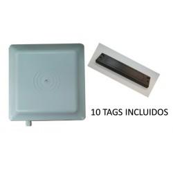 LECTOR DE TARJETAS / 902 a 918 MHZ / LECTURA DE 1 A 6 MTS / 10 TAGS UID INCLUIDOS