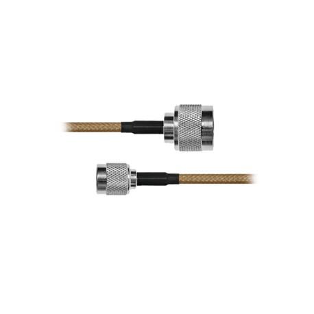 Cable RG142, con conductores N Macho / TNC Macho de 30 cm.