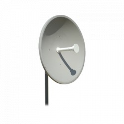 Antena Direccional de 1 m. de Diám. 34 dBi para frecuencia de 4.9 a 6.2 GHZ (Slant:45°).