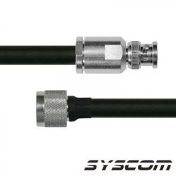 Cable RG240,con conectores BNC Macho / N Macho.