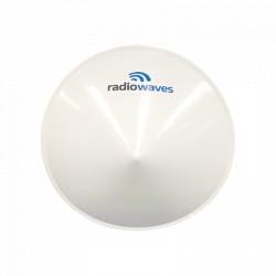 Radomo reductor de carga de viento para antenas serie SP de 4 ft