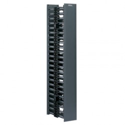 "ORGANIZADOR VERTICAL LATERAL, FRONTAL Y POSTERIOR 22 RMU, 41.5""H x 4.9""W x 12.0""D. PARA INST. CENTRAL"