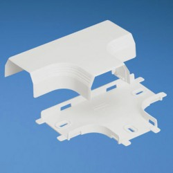"""T"" PARA DUCTO Pan-Way® T45, (BASE Y CUBIERTA) BLANCO INTERNACIONAL"