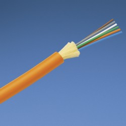 FIBRA ÓPTICA 6 HILOS, MULTIMODO 50/125μm, (OM2) RISER INTERNA COLOR NARANJA.