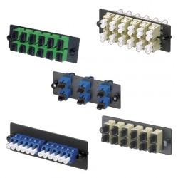 PANEL FAP Opticom™ PRECARGADO CON 6 ACOPLADORES DUPLEX LC MONOMODO (OS1/OS2)