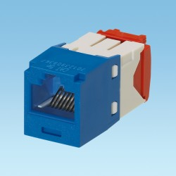JACK MODULAR Mini-Com® TX5e™ CATEGORIA 5E , AZUL, CONFIGURACIÓN A/B