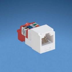 JACK MODULAR Mini-Com® TX5e™ CATEGORIA 5E, ROJO, CONFIGURACIÓN A/B
