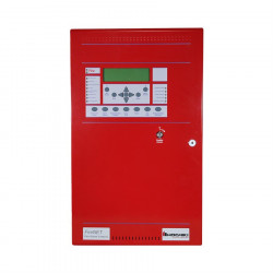 ANALOG/ ADDRESSABLE FIRE CONTROL PANEL (2 LOOP/4AMP PS), RED