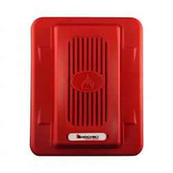 WALL MOUNT HORN, 24VDC, 100 dBA @ 10', RED