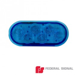 Luz Perimetral Serie 3K-LED. En color azul.