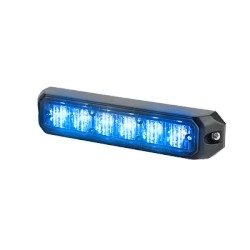 Luz auxiliar de 6 LED's, 12 Vcd, 1 A. Color Azul.