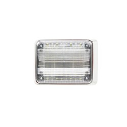 Luz de advertencia Quadraflare LED con flasher integrado, color claro.
