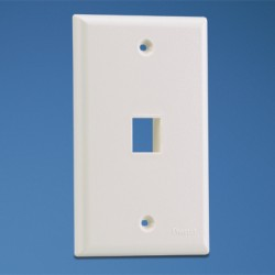 NetKey 1-port, single gang, flush mount faceplate