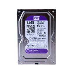 Disco duro SATA 1TB serie WD PURPLE optimizado para CCTV, 5400RPM, 24/7