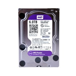 Disco duro SATA 6TB serie WD PURPLE optimizado para CCTV, 5400RPM, 24/7