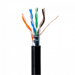 Bobina de cable de 305 metros, tipo FTP Cat5e